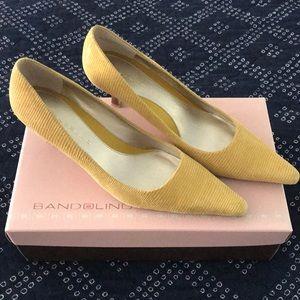 Bandolino Shoes - Kitten heals mustard yellow.